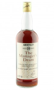 Aberfeldy 19 Year Old, The Manager's Dram 1991 Bottling